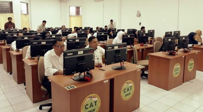 Pelaksanaan ujian dinas PNS Pemko Payakumbuh.