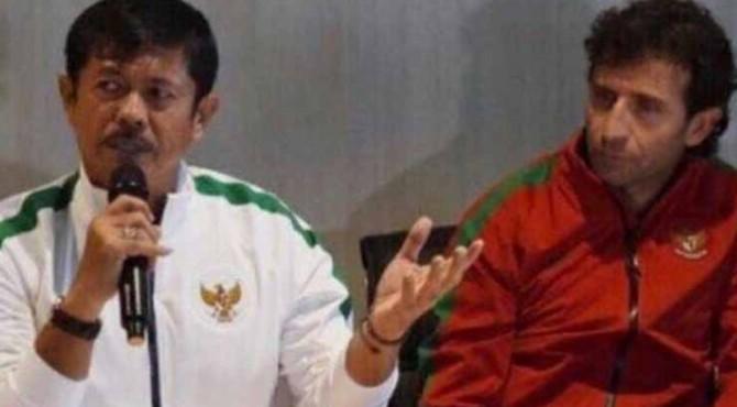 Salah satu unggahan pelatih Timnas Indonesia U-23, Indra Sjafri saat bersama Luis Milla.