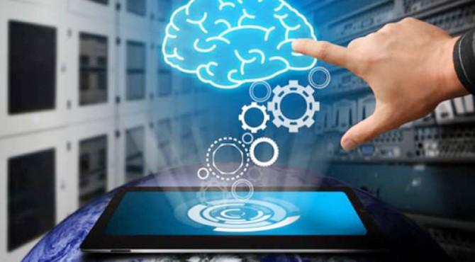 ilustrasi otak dan android