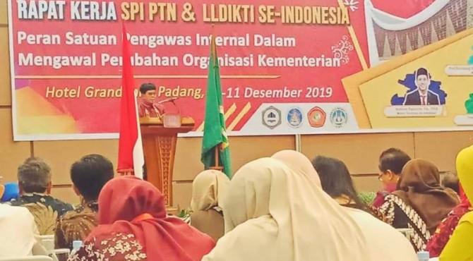Rapat Kerja SPI PTN dan LLDKTI se Indonesia di Padang