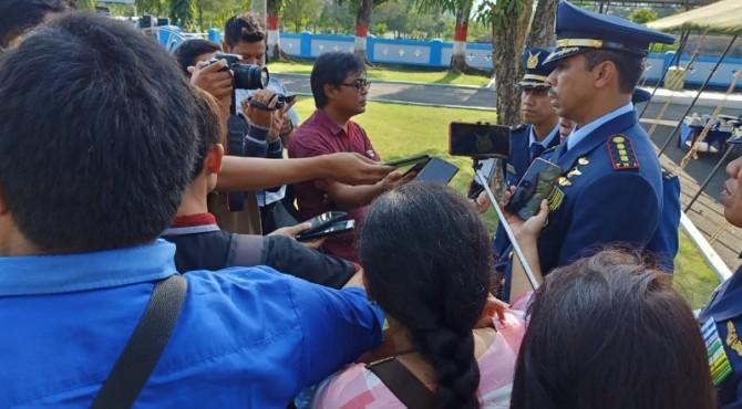 Komandan Lanud Sutan Sjahrir Kolonel Pnb Purwanto Adi Nugroho