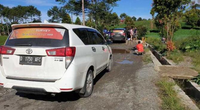 Tim Survei TdS 2019 menchek rute Kerinci