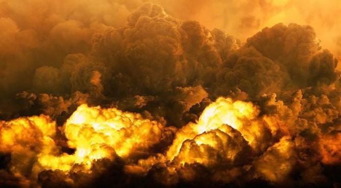 ilustrasi bumi hancur