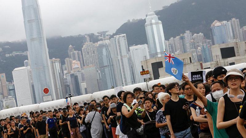 Ilustrasi kerusuhan Hongkong