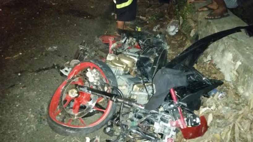 Motor yang dikendarian korban saat kecelakaan di Pessel