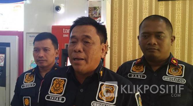 Kepala Divisi Imigrasi Kanwil Kemenkumham Sumbar, Yayan Indriana.