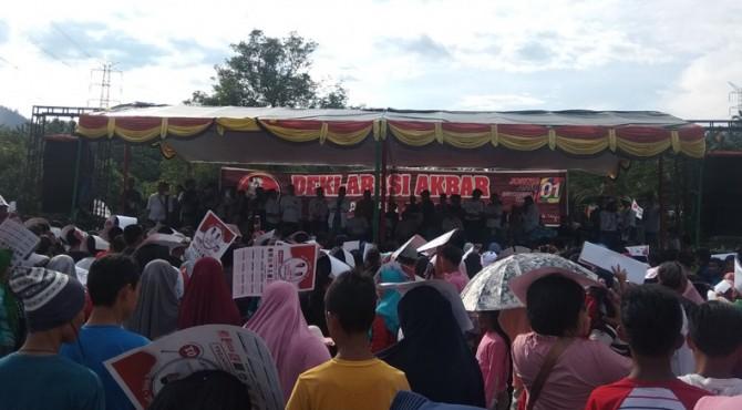 Suasana deklarasi relawan Jokowi di Sijunjung