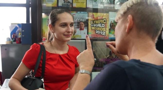 Vanessa adalah salah satu peserta PPIA yang memyandang disabilitas (tuna rungu, tuna wicara dan low vision)