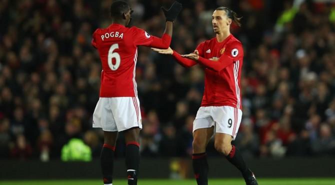 Pogba dan Ibrahimovic tidak tampil dalam laga derby manchester.