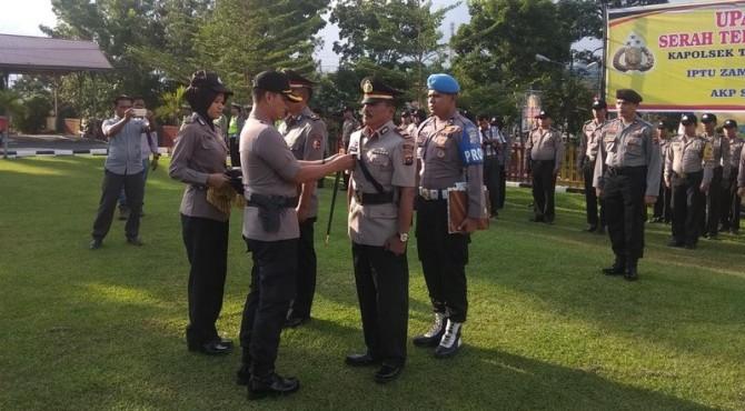 Sertijab Kapolsek Tanjung Gadang di Mapolres Sijunjung, Rabu 22 Mei 2019