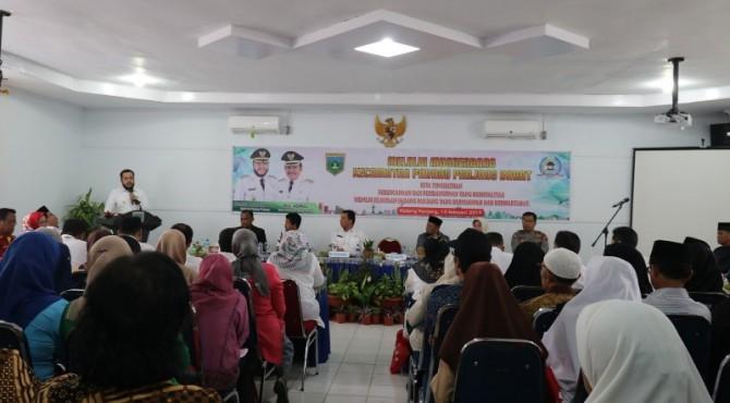 Wali Kota Padangpanjang Fadly Amran saat Musrenbang tingkat kecamatan