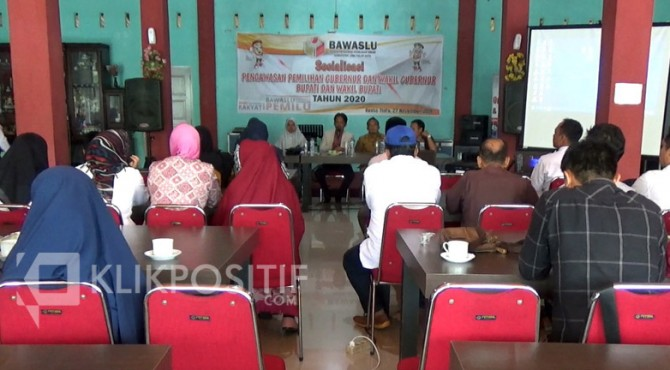 Rapat Sosialisasi Pengawasan Pilkada 2020 yang dilaksanakan Bawaslu Limapuluh Kota.