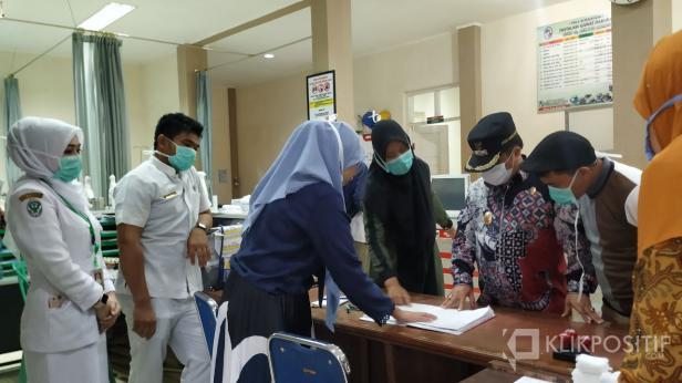 Suasana RS Achmad Darwis Suliki saat Wakil Bupati lakukan pengecekan kesiapan rumah sakit dalam penanganan COVID-19 beberapa waktu lalu.