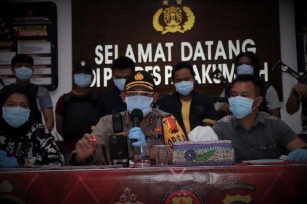 Polres Payakumbuh AKBP Dony Setiawan saat siaran pers di Mapolres Payakumbuh
