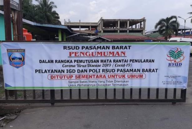 Pengumuman RSUD Pasaman Barat tertutup untuk umum