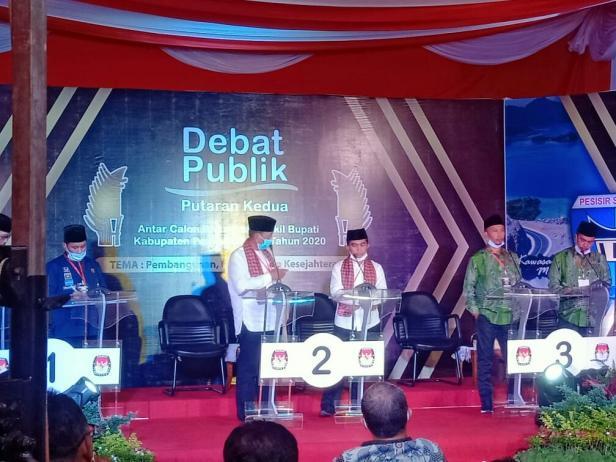 Debat putaran kedua Kandidat Pilkada Pessel