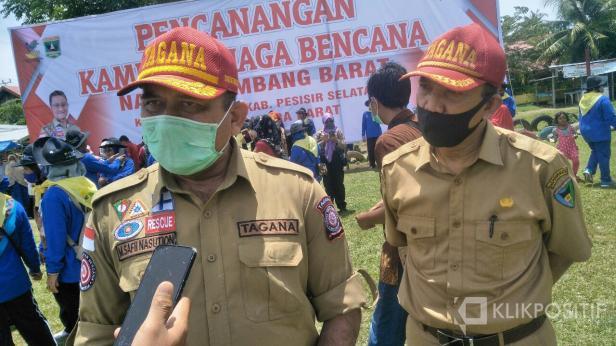 M. Safii Nasution usai meresmikan pencanangan Kampung Siaga Bencana (KSB) Nagari Kambang Barat di Pessel-Sumbar