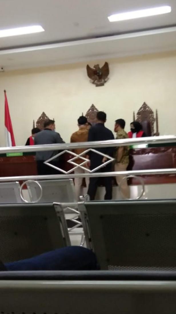 Foto Persidangan kasus perkara gugatan lahan warga Sumpur di PN padangpanjang