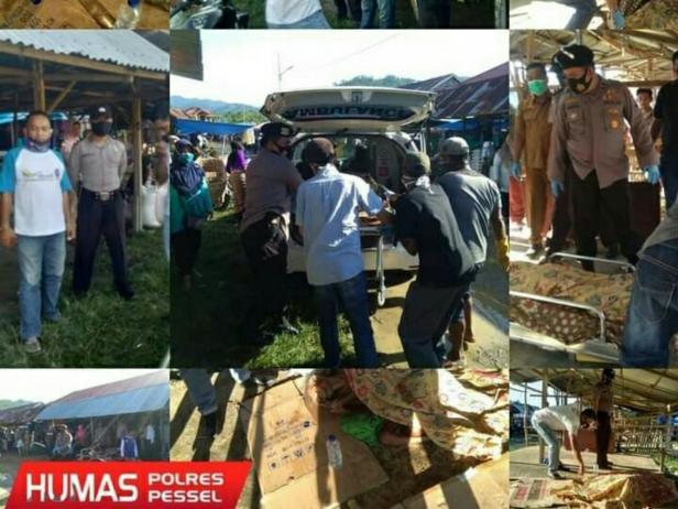 Dokumen penemuan mayat pria tanpa identitas di Pasar Batang Kapas Pessel