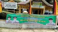 Spanduk milik Bapenda Padang yang ada di salah satu kantor lurah Kota Padang