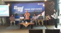Komisaris Utama BRI, Andrinof Chaniago memberikan kata sambutan  saat junpa pers BRI Mandeh Run 2019