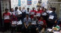 Pemenang lomba photo race SP2C saat penyerahan hadiah di Gedung Serba Guna (GSG) PT Semen Padang