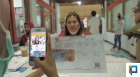 Ilustrasi penyerahan Bansos di PT Pos Padang