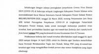 Surat perintah yang dikeluarkan Pemkab Pessel