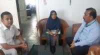 Elmayunis saat berada di ruang humas RSUP M. Djamil Padang
