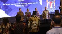 Ketua Umum Kamar Dagang dan Industri (KADIN) Indoensia, Arsjad Rasjid saat melantik pengurus KADIN Indonesia, periode 2021-2026, di Hotel Westin, Jakarta Pusat, Rabu (20/10/2021).