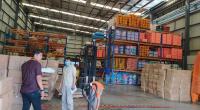 APD di gudang logistik BPBD Sumbar