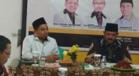 Indra Gunalan menyampaikan visi dan misi menjadi bakal calon wakil bupati Tanah Datar di Partai PKS