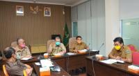 Rapat teknis pemberian bantuan kepada kepada masyarakat terdapak COVID-19, Selasa, 7 April 2020