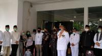 Pelepasan jenazah Bupati Tanah Datar Irdinansyah Tarmizi di Gedung Indo Jolito Batusangkar