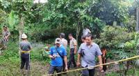Polisi Mengamankan Lokasi Penemuan Bahan Peledak