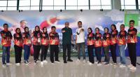 Ketua FORKI Sumbar Andre Rosiade menyambut dan menjamu para karateka Sumbar usai berlaga di PON Papua.