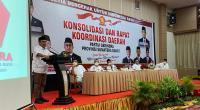 Sekretaris Jenderal (Sekjen) DPP Partai Gerindra Ahmad Muzani menyampaikan kata sambutan saat pembukaan Rapat Konsolidasi dan Koordinasi Daerah (Rakorda), Rabu (7/4/2021) malam di Kota Bukittinggi.