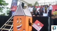 Bupati Solok Selatan Muzni Zakaria bersama Forkopimda saat launching Pilkada serentak 2020 di Halaman Kantor Bupati Solok Selatan Senin, 20 Januari 2020.