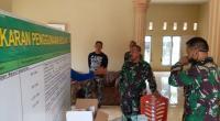 Dandim 0311 Pessel saat mangecek kesiapan TMMD ke 109 di Nagari Pancung Taba