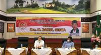 Anggota Majelis Permusyawaratan Rakyat Republik Indonesia (MPR-RI) asal Sumatera Barat (Sumbar), Darul Siska saat sosialisasi Empat Pilar MPR-RI, Optimalisasi Tahap 1, di Aula Kantor Gubernur Sumbar, Minggu (7/3/2021).