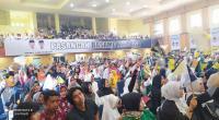 Seribu lebih simpatisan dan relawan menghadiri deklarasi pasangan Yutris Can-Adang