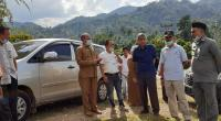 Kepala Dinas Kesehatan Solsel Novirman bersama pihak terkait dilokasi pembangunan RSPN solsel Lubuk Malako