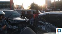 Kondisi Mobil Pajero Sport dan 4 Mobil Parkir yang Ditabraknya
