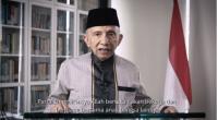 Tangkapan layar, politikus senior Amien Rais mendeklarasikan Partai Ummat melalui akun YouTube Amien, Kamis (1/10/2020).