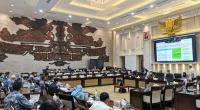 Rapat Dengar Pendapat (RDP) dengan komisi XI di Gedung DPR, Jakarta