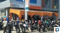 Kantor Kas BNI Painan ramai dikunjungi penerima Bantuan UMKM dari Pemerintah