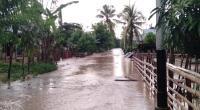 Kondisi banjir akibat hujan lebat yang terjadi, Senin 20 Januari 2020 sore