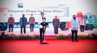 Pelepasan ekspor yang dilakukan secara virtual dari Istana Kepresidenan Bogor, Jawa Barat, Jumat (04/12/2020).