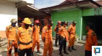 Tim SAR 50 Kota saat akan melakukan pencarian di Kawasan Nagari Sungai Talang.