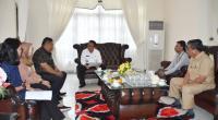 Bupati Agam Indra Catri menyambut rombongan BPK Perwakilan Sumbar